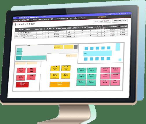 クラウドCTIコールセンターシステム BlueBeanのモニタリング画面