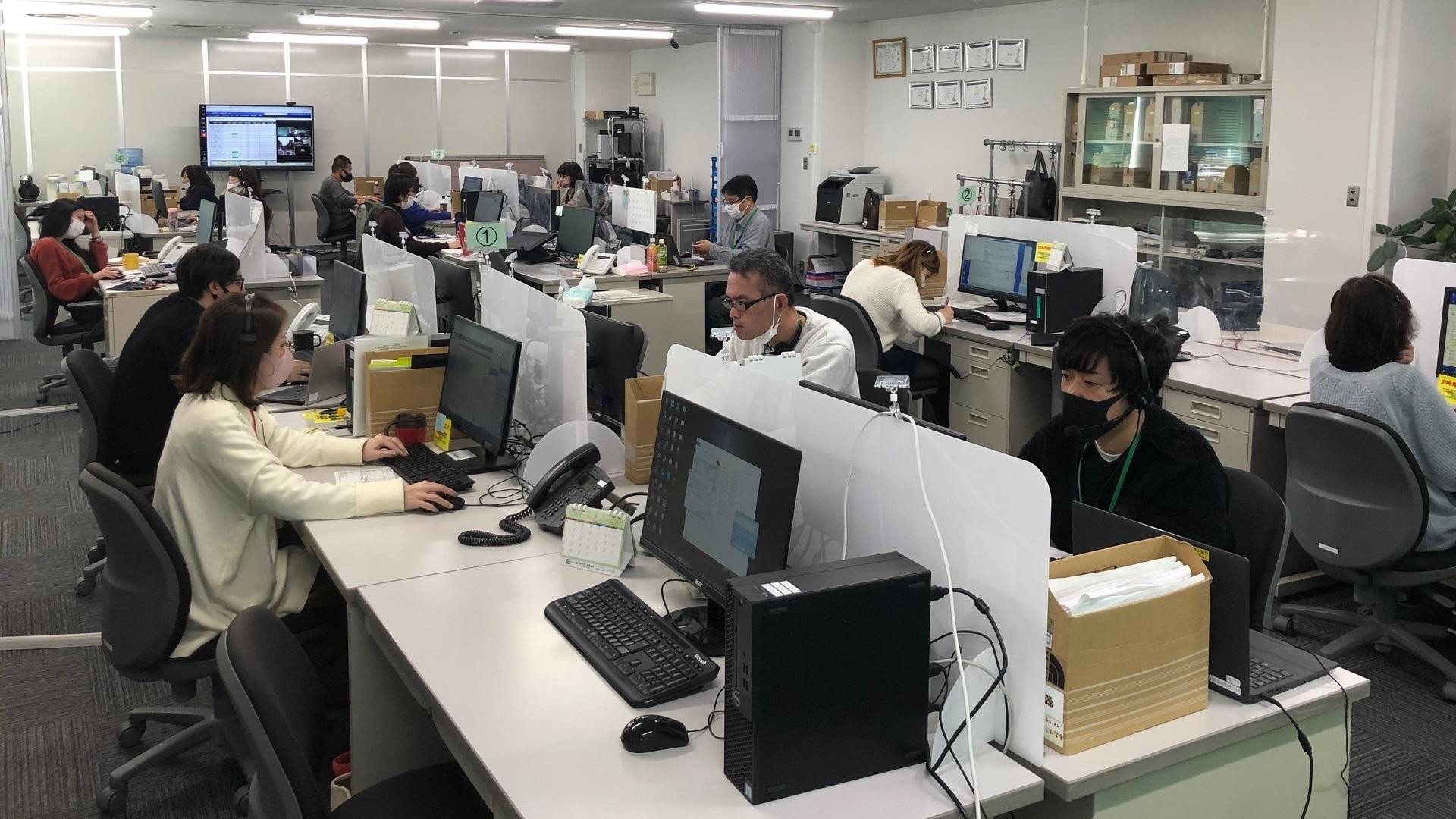 サイバー・ネット・コミュニケーションズ株式会社様 社内風景